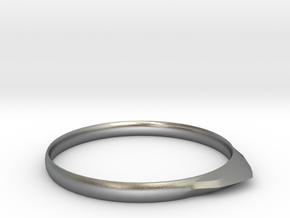 Edge Ring US Size 9.25 UK Size S 1/4 in Natural Silver