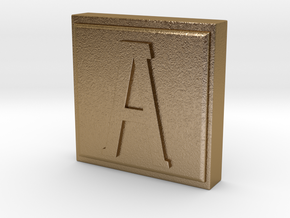 "Use an ""A"" Stamp in Polished Gold Steel"