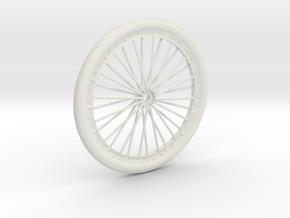 Bicycle wheel miniature in White Natural Versatile Plastic