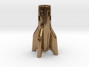 Stubby V2 Rocket Cigarette Stubber in Natural Brass