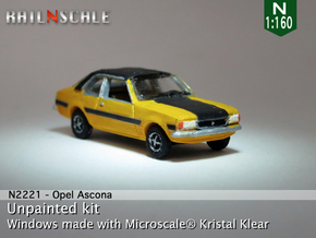 Opel Ascona B (N 1:160) in Smooth Fine Detail Plastic
