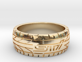 Subaru STI ring - 19 mm (US size 9) in 14K Yellow Gold