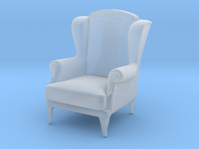 Miniature 1:48 Wingback Chair in Frosted Ultra Detail