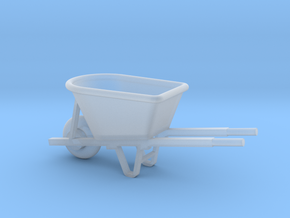 Miniature 1:48 Wheelbarrow in Smooth Fine Detail Plastic