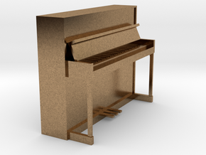 Miniature 1:24 Upright Piano in Natural Brass