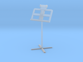 Miniature 1:24 Music Stand in Smooth Fine Detail Plastic