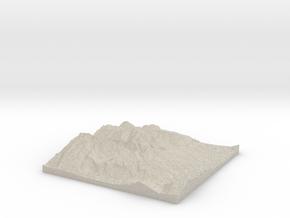Model of Vättis in Natural Sandstone