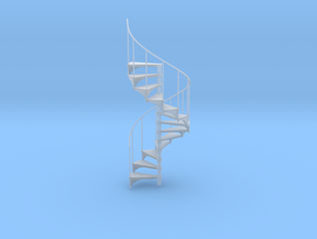 Miniature 1:24 Spiral Stair (Left Hand) in Smooth Fine Detail Plastic