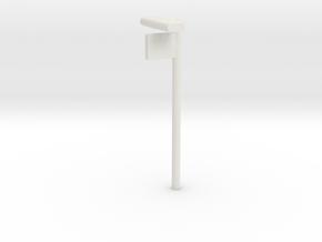 1/160 - DSB Stations lampe med Perronafsnits skilt in White Strong & Flexible