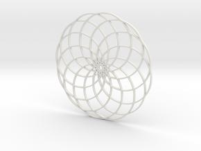 Flower of Life in White Natural Versatile Plastic