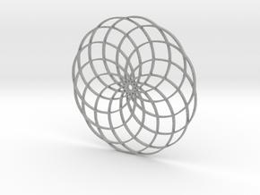 Flower of Life in Metallic Plastic