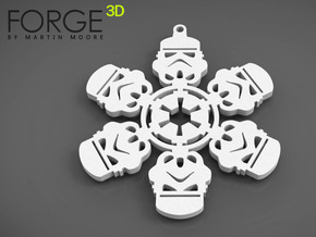 STORMTROOPER christmas snowflake decoration in White Natural Versatile Plastic