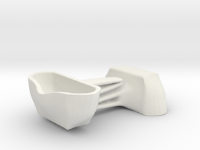 Voituré 'M' - Car Interior Flower Pot - 2 Set in White Natural Versatile Plastic