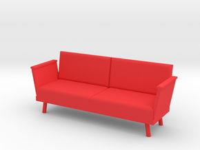 Doll Couch (1:12 scale) in Red Processed Versatile Plastic