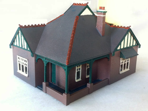 1:87 HO Australian Federation House Design 01 in Smooth Fine Detail Plastic