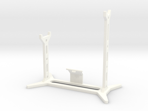 DL44 Stand with plate support in White Processed Versatile Plastic