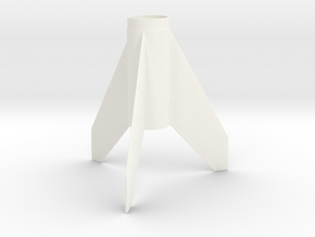 Quasar-style Fin Unit PFM-1 (early Citation) in White Strong & Flexible Polished