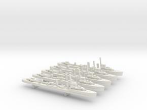 HMAS Stuart (Scott class) 1/1800 x5 in White Natural Versatile Plastic
