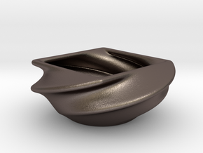 Transformed Dish 1 in Polished Bronzed Silver Steel