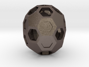 Buckyball C70 in Polished Bronzed Silver Steel