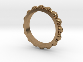 Skull Ring Eternity Style size 9 in Natural Brass