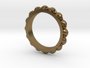 Skull Ring Eternity Style size 9 in Natural Bronze