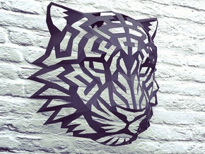 Tiger Head (L) Faux Taxidermy in Black Natural Versatile Plastic