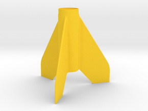 Scamp-style Fin Unit BT50 for 18mm motors in Yellow Strong & Flexible Polished