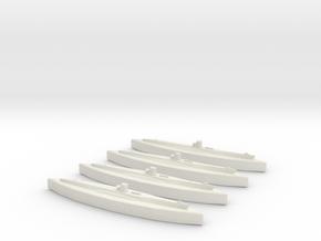 U-48 (Type VIIB U-Boat) 1/1800 x4 in White Natural Versatile Plastic