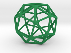 Snub Cube in Green Strong & Flexible Polished