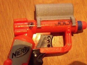laser holder for nerf jolt in White Natural Versatile Plastic
