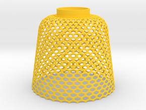 Lampshade beehive in Yellow Strong & Flexible Polished