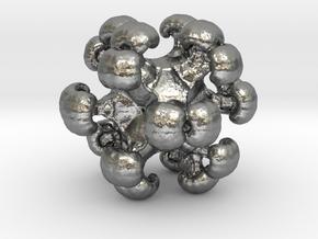 MengerSpore earring / pendant in Natural Silver