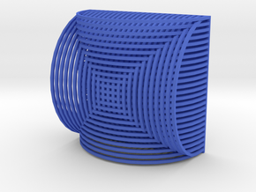 Magnet3 in Blue Processed Versatile Plastic