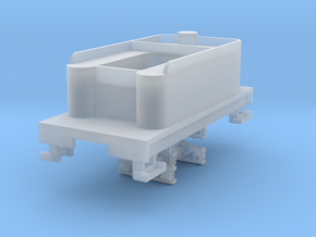 Small 8 wheel Tender for HOn30 F&C loco, ver.A in Smooth Fine Detail Plastic