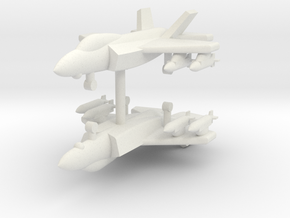 1/285 F-35A Lightning II (With x4 JDAM) (x2) in White Natural Versatile Plastic