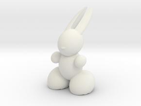Rabbit Robot in White Natural Versatile Plastic