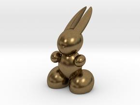 Rabbit Robot in Natural Bronze