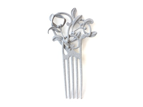 Nouveau Hair Comb Mistletoe in Metallic Plastic