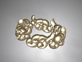 Six Clouds size:4-4.5 in Polished Gold Steel