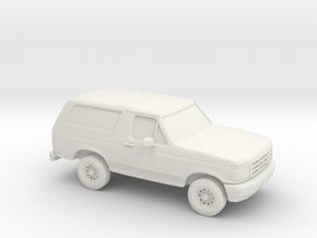 1/87 1995 Ford Bronco in White Natural Versatile Plastic