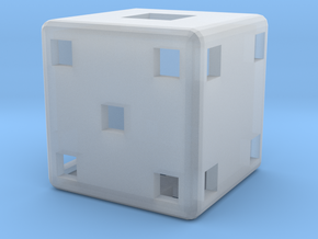 Dice102 in Smooth Fine Detail Plastic