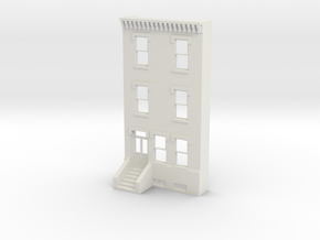 S SCALE ROW HOME FRONT 3S  in White Natural Versatile Plastic