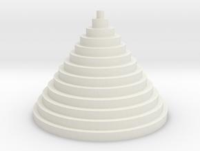 The Circle Pyramid in White Natural Versatile Plastic