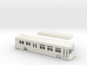 HO scale new flyer c40lf sdmts (improved) in White Strong & Flexible