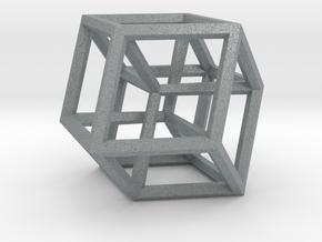 Hypercube B in Polished Metallic Plastic