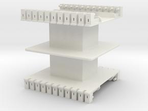 AMCC10 c-core bobbin - dual chamber - 44pin in White Natural Versatile Plastic