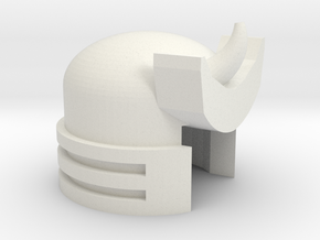 Robohelmet: Marvelous Boom Flap in White Natural Versatile Plastic