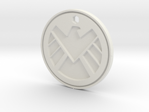 Shield Logo Necklace Replica in White Natural Versatile Plastic