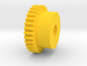 Inventing room key Center Gear (7 of 9) in Yellow Strong & Flexible Polished